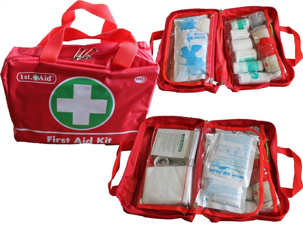 Red bag First-aid Kit for travel