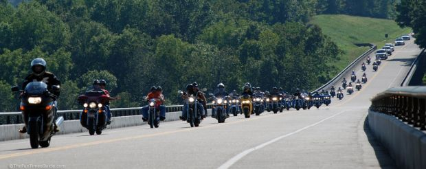Motorcyclists on the Natchez Trace Parkway