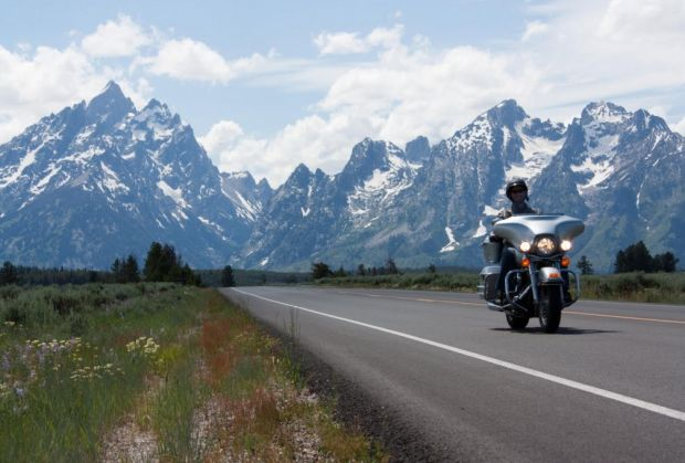 motorcycle rides through the Tetons & Yellowstone