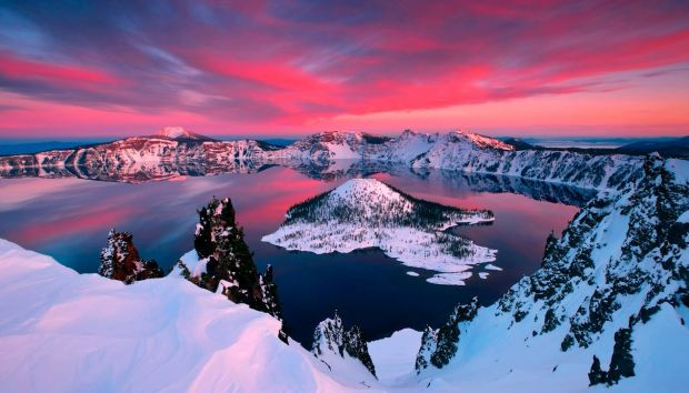 Awesome view of the Crater Lake